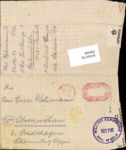 599368,Kriegsgefangenenpost POW Bonn 5. Civilian Internment Camp Obernwöhren Stadthagen Hannover