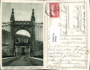 599456,Budapest Erzsebet-hid a Gellert-szoborral Elisabethbrücke Brücke Hungary