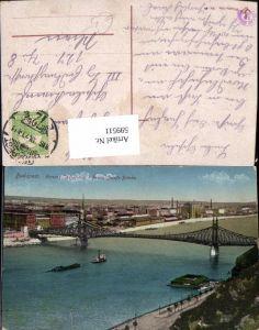 599511,Budapest Ferencz Jozsef-hid Franz Josefs-Brücke Hungary