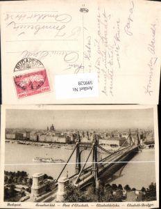 599528,Budapest Erzsebet-hid Pont d Elisabeth Brücke Schiff Dampfer Hungary