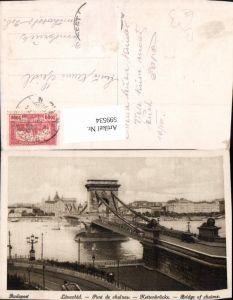 599534,Budapest Lanczhid Pont de chaines Kettenbrücke Brücke Hungary
