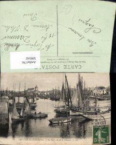 599542,Les Sables-D Olonne Le port vu de la Chaume Segelschiffe Hafen