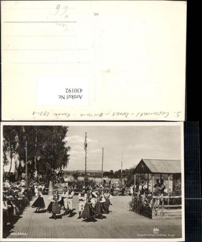 430192,Foto Ak Dalarna Volkstanz Tracht Tanzen Tanz Schweden