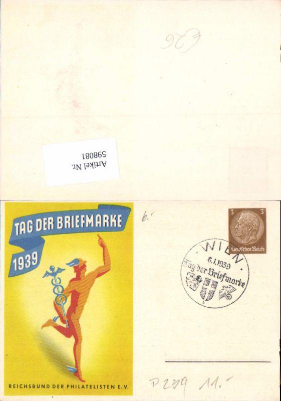 598081,Tag der Briefmarke 1939 Reichsbund der Philatelisten Wien 1939 Ganzsache