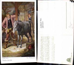 289163,Künstler Ak Georg Mühlberg Brüder Grimm Tischlein deck dich Märchen Esel Goldmünzen