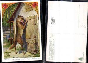 289186,Künstler Ak O. Herrfurth Brüder Grimm Der Wolf u. d. sieben Geißlein Märchen