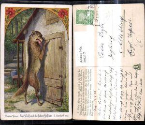 289237,Künstler Ak O. Herrfurth Brüder Grimm Der Wolf u. d. sieben Geißlein Märchen