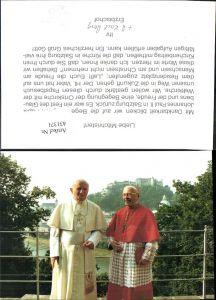 431371,Papst Johannes Paul II m. Erzbischof Karl Berg Salzburg Festung Hohensalzburg Religion