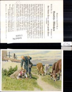 171830,Deutsche Märchen Sammelbild Paul Hey Der kleine Claus u. d. Große Claus v. Andersen