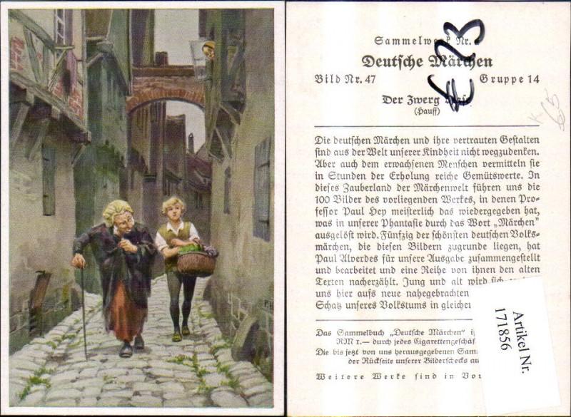 171856,Deutsche Märchen Sammelbild Paul Hey Der Zwerg Nase v. Hauff