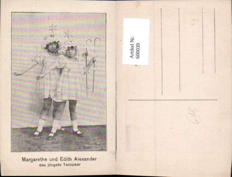 600039,Tanzen Margarethe u. Edith Alexander Tanzpaar Kostüm 0