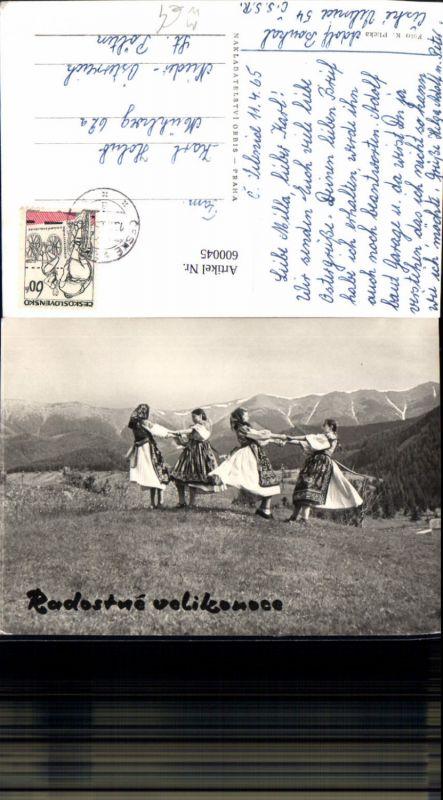 600045,Tanzen Radostne velikonoce Frauen Tracht Volkstanz Tschechien