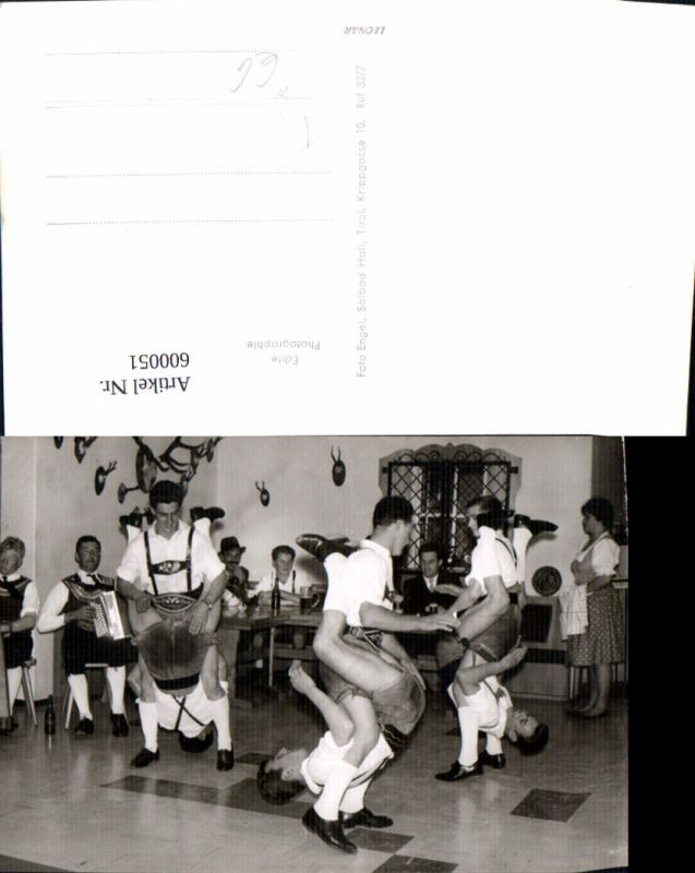 600051,Foto Ak Tanzen Männer Tracht Hall i. Tirol Lederhose Volkstyp