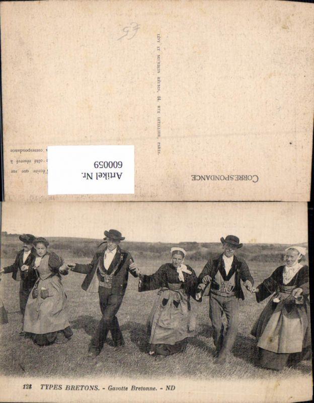 600059,Tanzen Types Bretons Gavotte Bretonne Frauen Männer i. Tracht Volkstanz