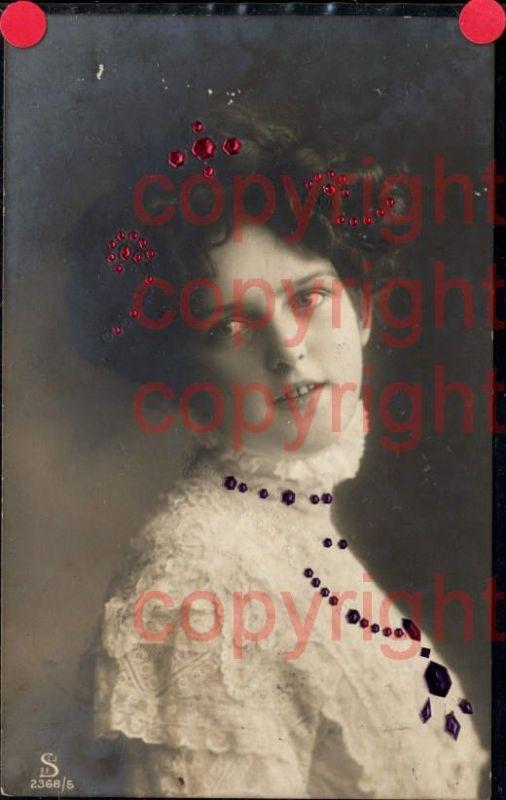 465883,Material Karte Glitzersteine Glitzer Frau Portrait
