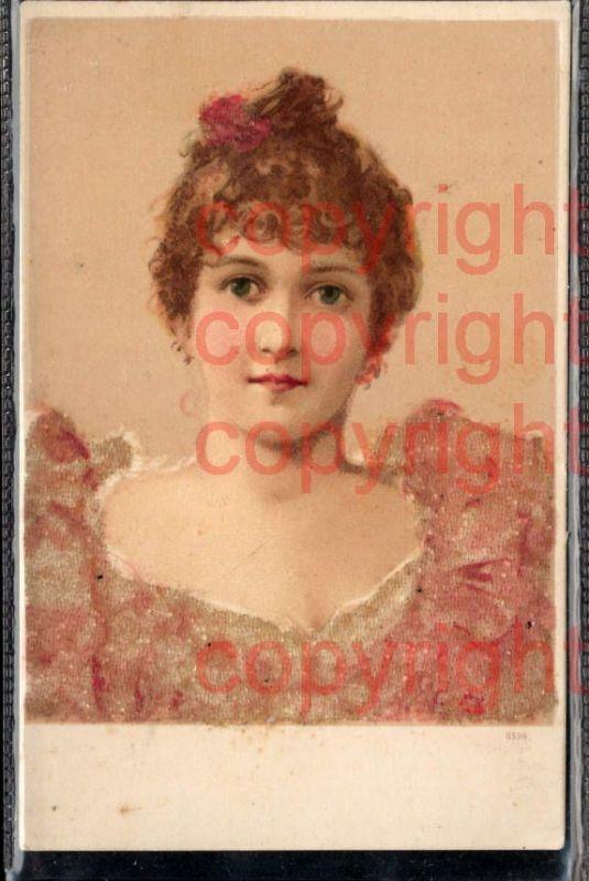 465900,Material Karte Glitzer Perlen Applikation Frau Portrait