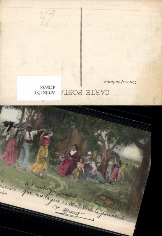 478658,Tanzen En Provence La Farandole Frauen Männer