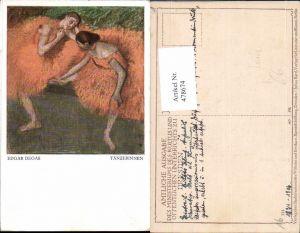 478674,Künstler Ak Edgar Degas Tänzerinnen Frauen Tanzen