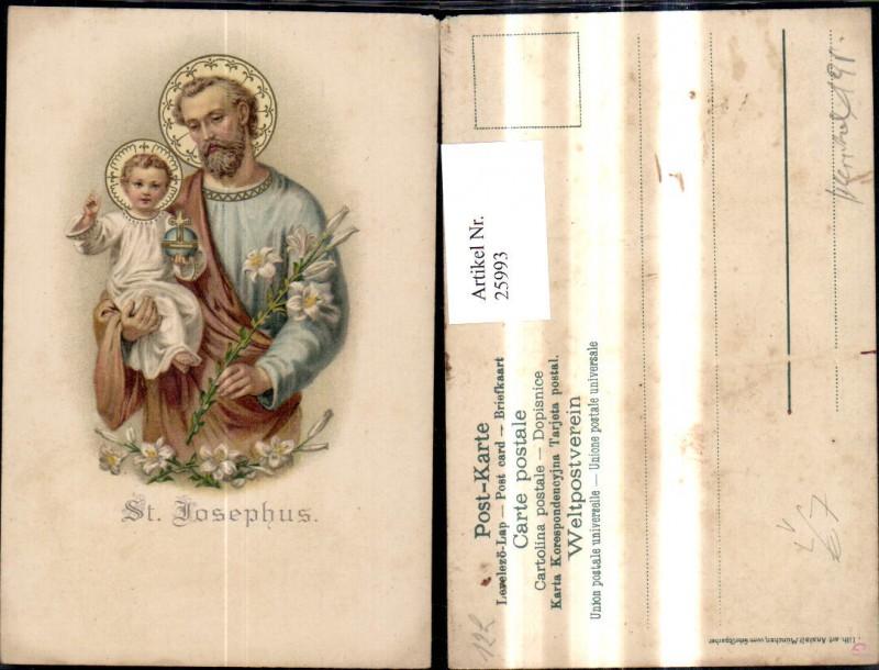 25993,Litho Religion St Josephus pub Gebrüder Obpacher