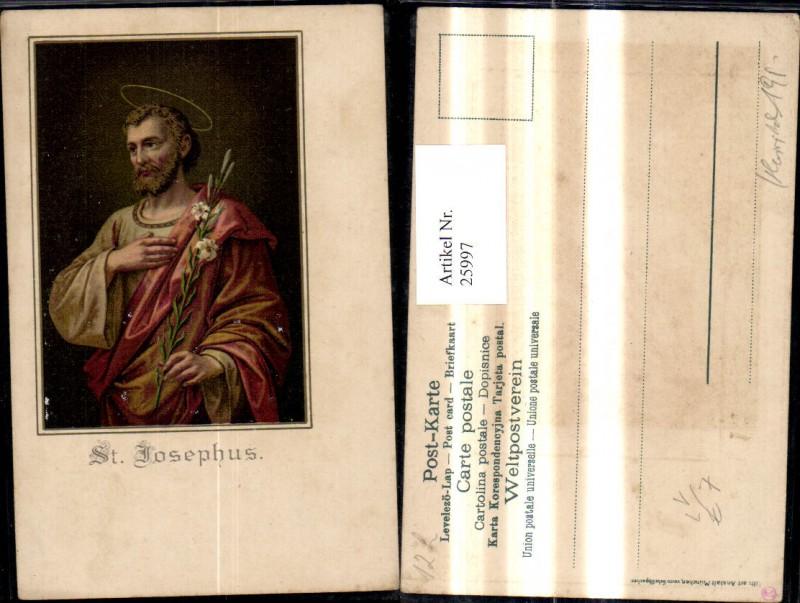25997,Litho Religion St Josephus pub Gebrüder Obpacher
