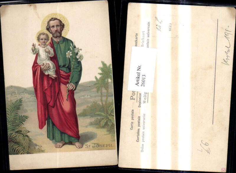 26013,Litho Religion St Josephus