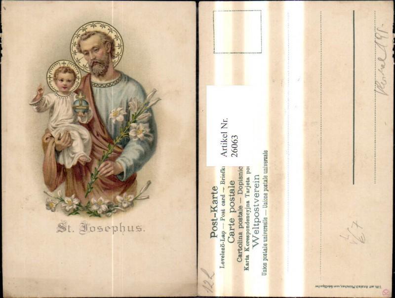 26063,Litho Religion St Josephus pub Gebrüder Obpacher