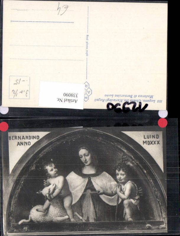 338090,Religion Madonna di Bernardino Luino Chiesa Sta. Maria degli Angeli Lugnano