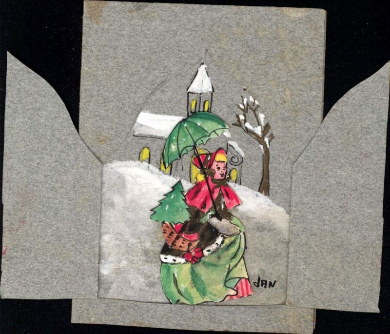 479183,Material Ak Handgemacht Jan Frau Kirche Klappbar