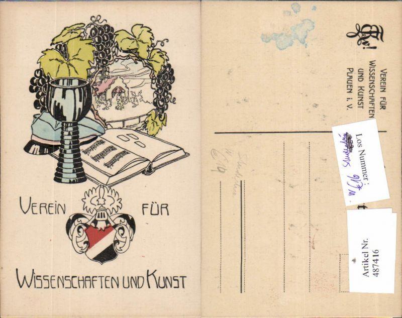 487416,Studentika Verein Wissenschaft u. Kunst Plauen Vogtland Wein Buch