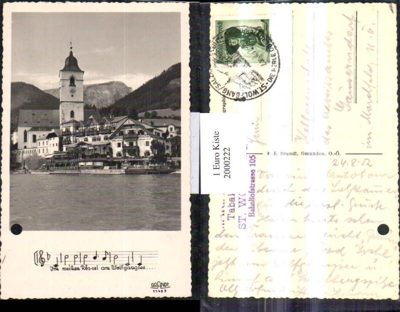 """2000222,St Wolfgang Teilansicht Hotel Pension """"Weißes Rössl"""" Kirche pub Brandt 11457"""
