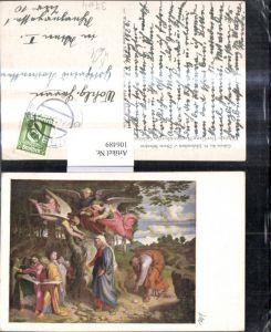 106489,Künstler Ak Führich Der Gang Mariens über d. Gebirge Engel Religion