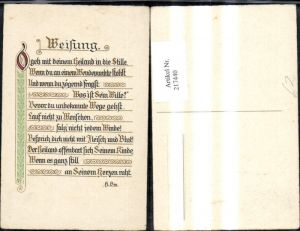 217440,Religion Weisung Text v. H. Bm. Spruch