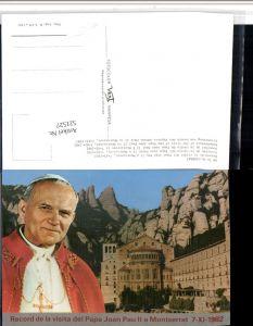 521527,Montserrat Papa Joan Pau II 1982 Papst Johann Paul II Bergkulisse
