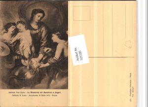 521595,Künstler AK Antonio van Dyck Madonna col Bambino Maria Jesuskind Geige