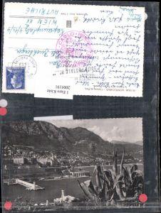 2005191,Monte-Carlo L'entree du Port le Casino et le Tir aux Pigeons Totale Hafen