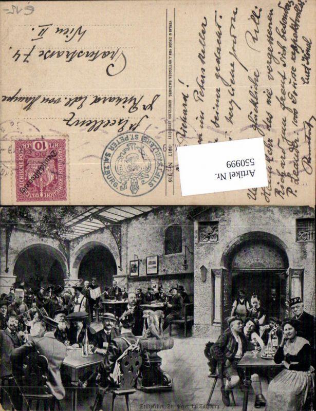 550999,Studentika Studentica Studenten in Salzburg St. Peter Stiftskeller Bier Wein