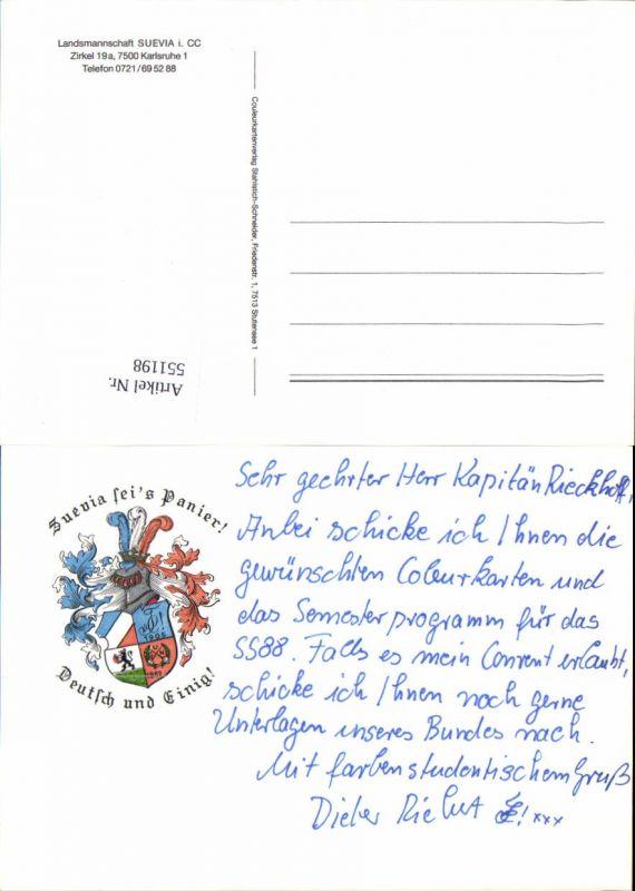 551198,Studentika Studentica Suevia seis Panier Couleurkarte Karlsruhe