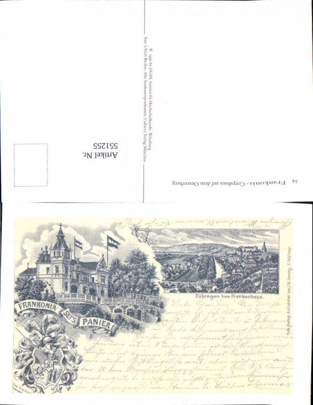 551255,Reproduktion Studentika Studentica Frankonia seis panier Tübingen
