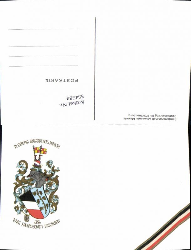 554584,Studentika Studentica Alemannia Makaria seis panier Würzburg