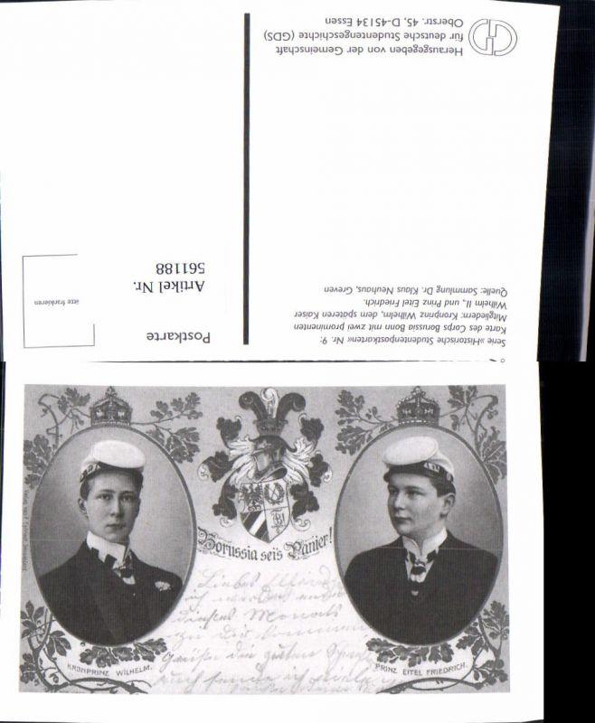 561188,Studentika Studentica Borussia seis Panier Kronprinz Wilhelm