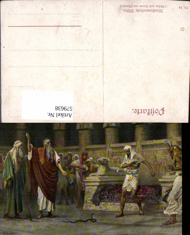579638,Künstler Ak Leinweber Moses u. Aron v. Pharao Religion