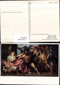 """2002396,Wien Kunsthistorisches Museum Künstler AK Anton van Dyck """"Simson und Delilah"""" Männer Hund"""