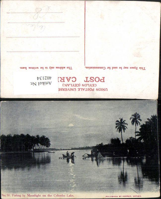 402134,Ceylon Fishing by Moonlight on the Colombo Lake See Fischer Mondschein
