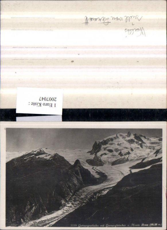2007047,Gornergratbahn m. Gornergletscher u. Monte Rosa Bergkulisse
