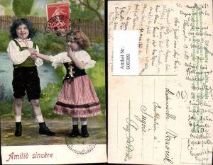 600309,Kind Kinder Bub Junge Mädchen Tracht Amitie sincere