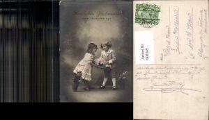 600349,Kind Kinder Mädchen Kleid Bub Junge Matrosenanzug Blumen Namenstag pub RPH SBW 4075/76