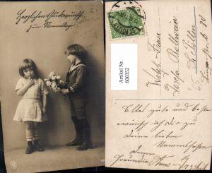 600352,Kind Kinder Mädchen Kleid Junge Bub Matrosenanzug Rosen Blumen pub NPG 3396