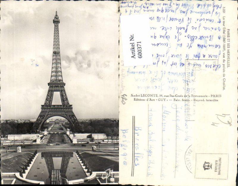 600371,Turm Paris Eiffelturm La Tour Eiffel vue du palais de Chaillot