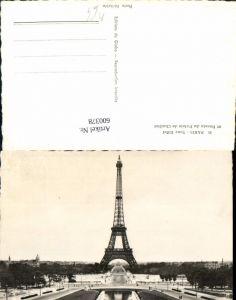 600378,Foto Ak Turm Paris Tour Eiffel et Bassin du Palais de Chaillott Eiffelturm