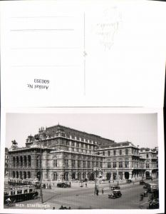 600393,Foto Ak Wien Vienna Staatsoper Oper Bus Straßenbahn Automobil Uhr Reklame Chlordont